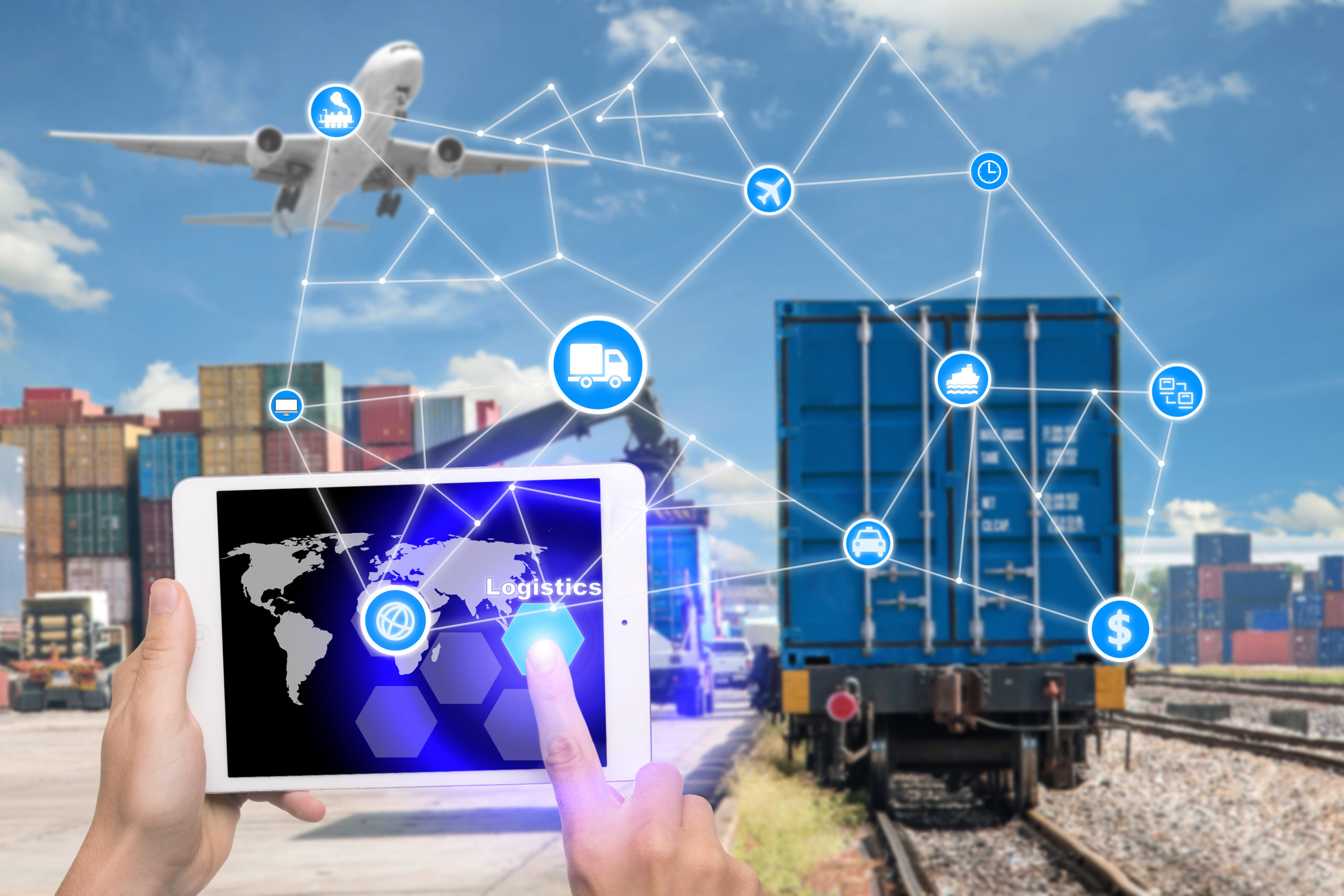 AWS-hosted, microservice-powered, in-flight supply chain management platform